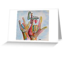 CODA - Children of Deaf Adults Greeting Card