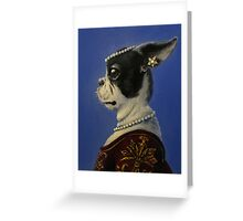 Lady in Pearls Greeting Card