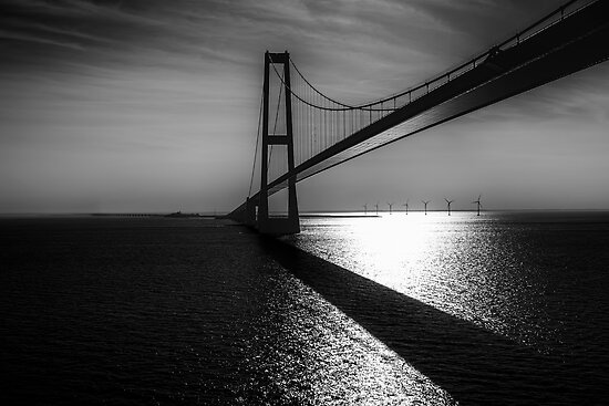 The Great Belt Bridge by Erik Brede