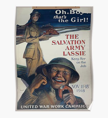 Oh boy thats the girl! The Salvation Army lassie keep her on the job 002 Poster