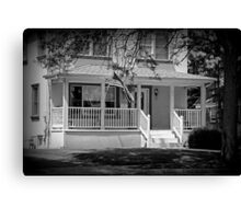 Patrotic little house B&W Canvas Print