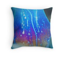 Technicolor Lava Throw Pillow