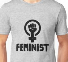 Raised Fist Feminist Logo Unisex T-Shirt