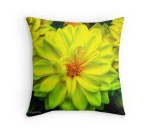 Yellow Dahlias Throw Pillow