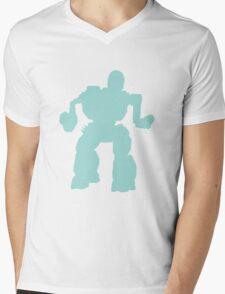 Summoner Battlemech Cyan Mens V-Neck T-Shirt