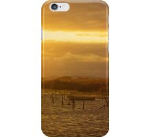 A peaceful sunset to end the day iPhone Case/Skin