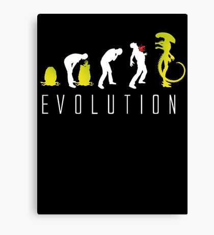 Evolution of Alien Funny Sci-Fi Canvas Print