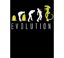 Evolution of Alien Funny Sci-Fi Photographic Print