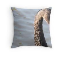 Black Swan Closeup Throw Pillow