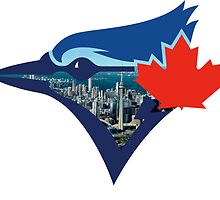 Toronto Blue Jays Skyline Logo by Jacob Sorokin