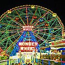 CONEY ISLAND'S WONDEROUS WONDER WHEEL IN NEON by KENDALL EUTEMEY