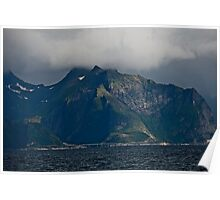 From the deck of the ferry you will have a perfect view of the Lofoten Islands. 2012 . by Andy Brown Sugar. Poster