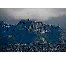 From the deck of the ferry you will have a perfect view of the Lofoten Islands. 2012 . by Andy Brown Sugar. Photographic Print