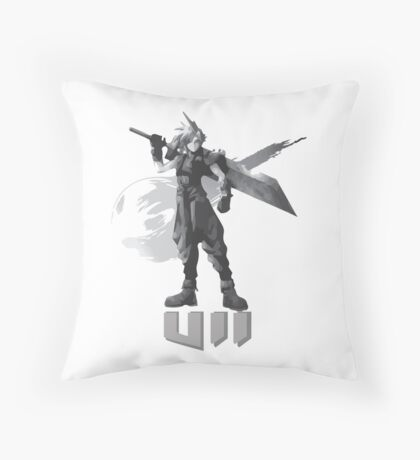 Final Fantasy VII Cloud Shirt Throw Pillow