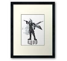 Final Fantasy VII Cloud Shirt Framed Print