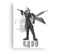 Final Fantasy VII Cloud Shirt Canvas Print