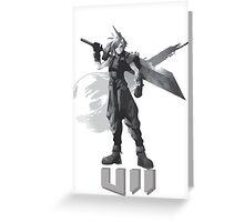Final Fantasy VII Cloud Shirt Greeting Card