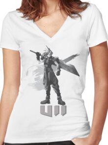 Final Fantasy VII Cloud Shirt Women's Fitted V-Neck T-Shirt