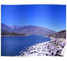 Blue Above And Below At Crowley Lake Poster