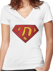 Super W Women's Fitted V-Neck T-Shirt