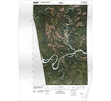 USGS Topo Map Washington State WA Queets 20110418 TM Poster