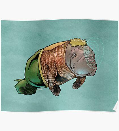 Aquamanatee Poster