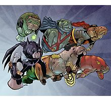 Justice League of Manatees Photographic Print