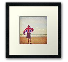 An englishman on the beach Framed Print