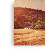 The cottage at the edge of the wood Canvas Print