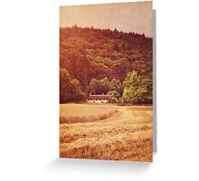 The cottage at the edge of the wood Greeting Card