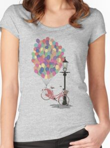 Love to Ride my Bike with Balloons even if it's not practical. Women's Fitted Scoop T-Shirt