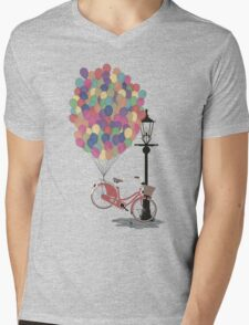 Love to Ride my Bike with Balloons even if it's not practical. Mens V-Neck T-Shirt