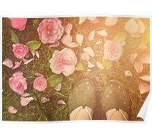 Flowers beneath my feet Poster