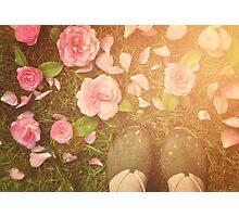 Flowers beneath my feet Photographic Print