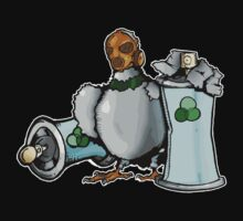 green recycle pigeon by dirtycitypigeon