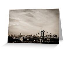 The New York City Skyline and the Manhattan Bridge Greeting Card