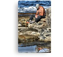 Relaxing - Newcastle Baths NSW Australia Canvas Print