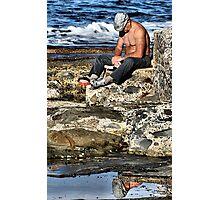 Relaxing - Newcastle Baths NSW Australia Photographic Print