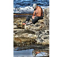 Relaxing - Newcastle Baths NSW Australia Photographic Print