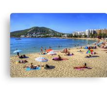 Santa Eulalia Beach and Bay Canvas Print