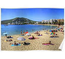Santa Eulalia Beach and Bay Poster