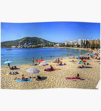 Santa Eulalia Beach and Bay Poster