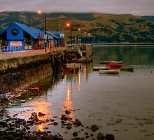 Akaroa Wharf by Christine Smith