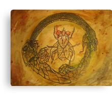 The Snake, The Lizard, and The Insect Eye Canvas Print