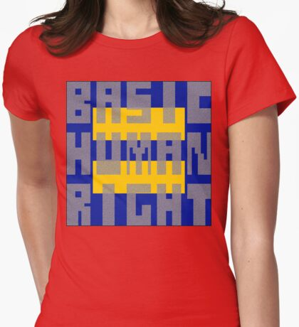 Basic Human Right Womens Fitted T-Shirt