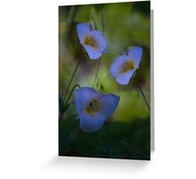 remembrance in pastel blue Greeting Card