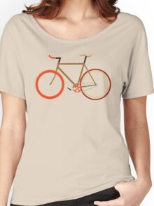 Bike ~ Fixie Warm Fall Colors Women's Relaxed Fit T-Shirt