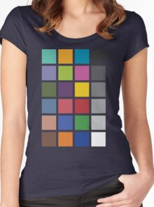 Photographer's Color Checker tee Women's Fitted Scoop T-Shirt