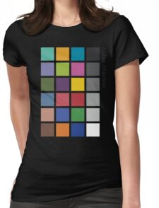 Photographer's Color Checker tee Womens Fitted T-Shirt