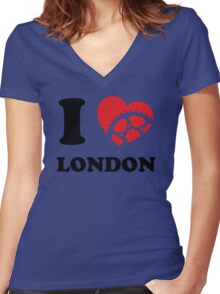 I Ride London Women's Fitted V-Neck T-Shirt